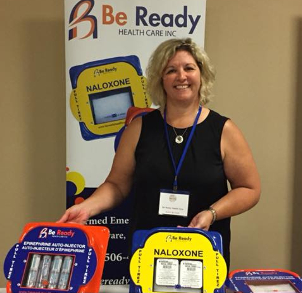 Kelly Dunfield with emergency kits