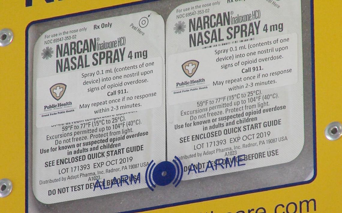 Narcan emergency cabinet